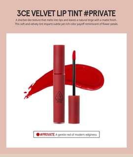 3CE Velvet Lip Tint in Private