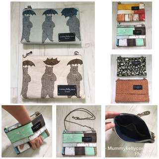 Forest theme zipperpouches/sling bags