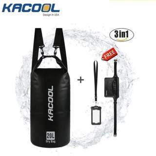 USA KACOOL Portable Outdoor 20L Waterproof Dry Bag Set