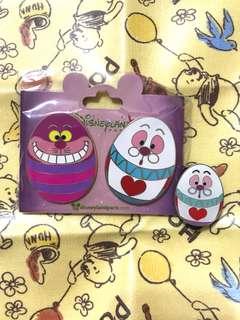 法國 Disney pin Alice 白兔先生 時間兔 妙妙貓 花蛋