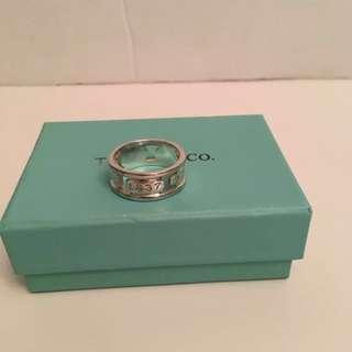 Authentic vintage Tiffany & Co 1837 ring