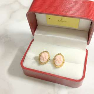 JAPAN KOREA Pretty Pink Bow Earrings 蝴蝶結耳環