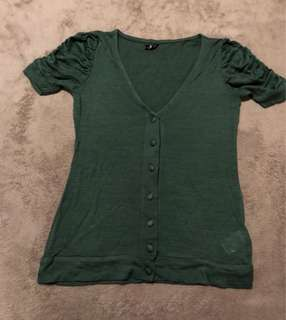 Topshop Green Blouse