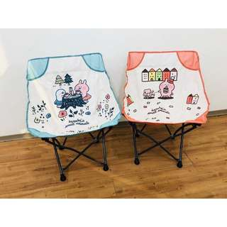 台灣7-11 x 卡娜赫拉的小動物 Kanahei 下午茶時光摺疊休閒椅 2款 $328