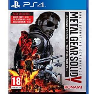 Brand New Condition Metal Gear Solid V PS4