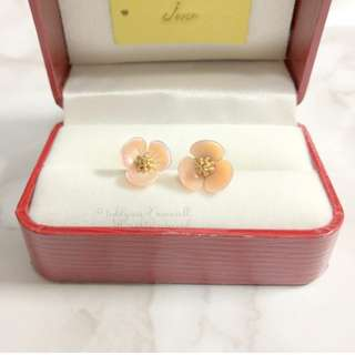 MADE IN KOREA Pretty Pink 3D Flower Earrings 粉紅花花立體耳環