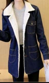 Autumn/Winter  Wool Denim Jacket Coat