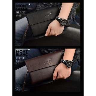 Handbag Clutch Bag Pria MONT BLANC Kulit F03
