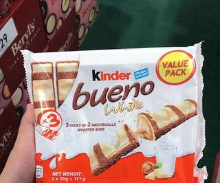 Kinder Bueno Wrapped Bars