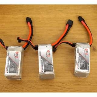 Lipo batteries 4S 1500mah - Gaoneng and Dinogy