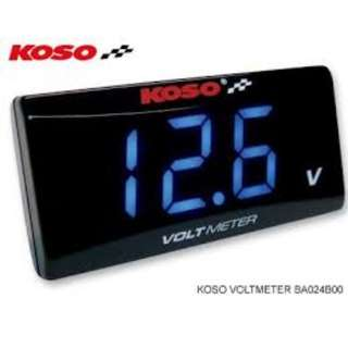KOSO BLUE / RED Voltmeter