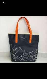 ⚀ Kate Spade New Yoke Navy Blue with Orange Strap Tote Bag