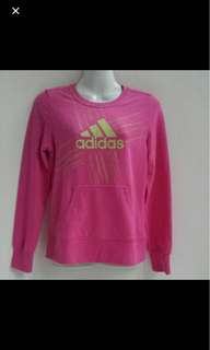 ⚀ Adidas Pink Pullover Sweater