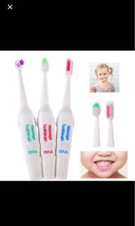 Electric Toothbrush Set With 3 Heads!
