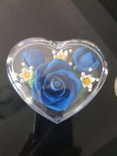 Beautiful Blue Rose Paper Weight