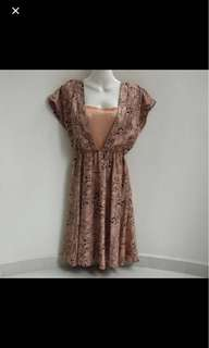 ⚀ H&M Nude Orange Dress