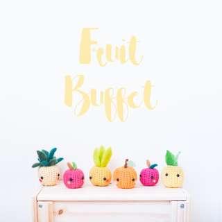 Intro to Crochet & Needle Felting (Fruit)