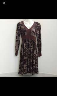 ⚁ 2 for $10 - Brown Floral Long Sleeve Dress
