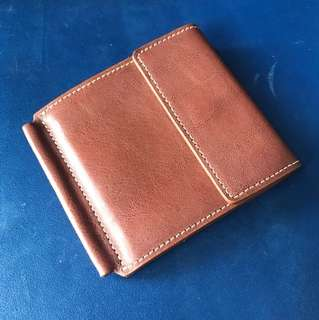 Leather Wallet (money Clip)