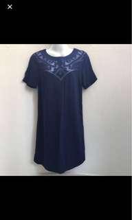 ⚀ Warehouse Navy Blue Dress