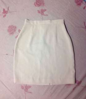 Pencil Skirt (cream white)