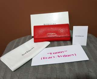 Authentic Givenchy Pandora 100%Goat Leather Wallet