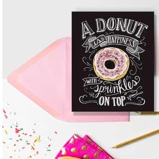 🚚 Donut Greeting Card