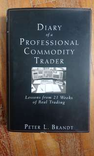 Diary of  Professional Commodity Trader