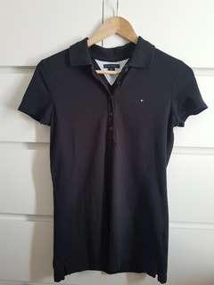 Tommy Hilfiger Black Polo, Size 6
