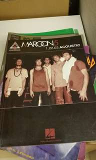 Maroon Five Song Tablature book (Use but as good as new)