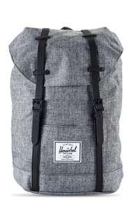 Herschel Supply Co. Retreat Backpack Raven Crosshatch/Black Rubber