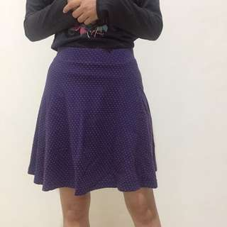 Purple Polka Skirt