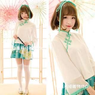 【蘿莉塔雜物坊】中華風 甜美 星彩虹 軟妹 夏生菊 古裝 民國風 漢服 少女 套裝