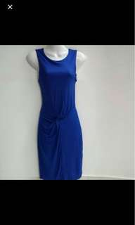 ⚀ MNG Mango Electric Blue Bodycon Dress