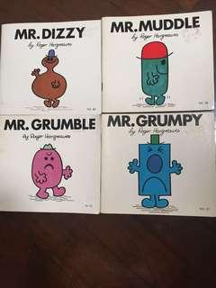 Mr Men Books (4 small books)
