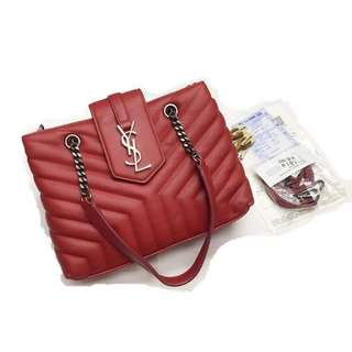 YSL Y-Quilted Two-Way Chain Bag