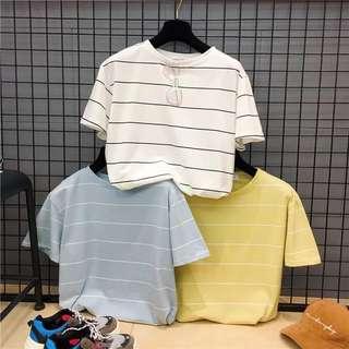🚚 女生上衣條紋T恤 三色可選