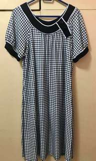 PLUS SIZE Checkered Dress
