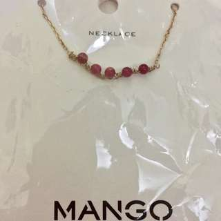 Mango Red Bead Necklace