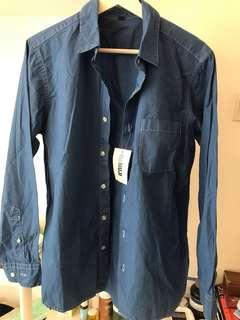 Brand new! Re-Muji Indigo shirt