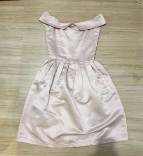 Nude party dress