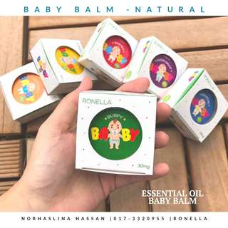 Natural Baby Balm (essential oil base)