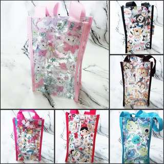 🚚 迪士尼TSUM TSUM 透明防水飲料環保杯袋提袋