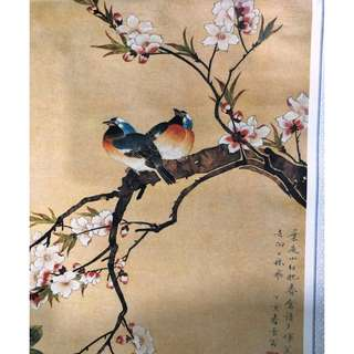 旧丝娟画日历 2,Old silk painting calendar 2