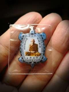 Locket phaya Tao BE 2542 Lp liew Wat Raitang thong  Back is copper material
