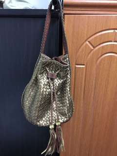 Sling hobo bucket tassel bag from Amsterdam (Holland) used once only.