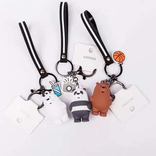 Miniso We Bare Bears Vinyl Keychains