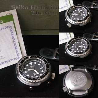 "Ltd1000pcs Seiko SBDX005 Marine Master Titanium Tuna 600m Watch 52mm Fullset ""The Historical Collection of the year 2000"""