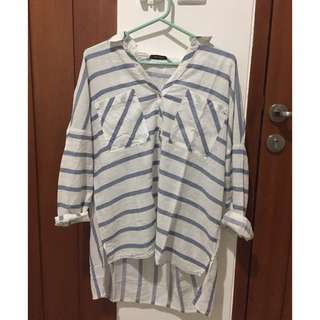ZARA rustic striped shirt