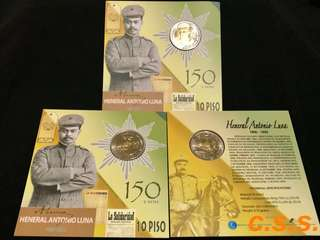 General Antonio Luna 150years Commemorative coin in blister pack